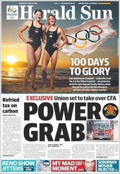 #20160427 #AUSTRALIA #AustraliaTodayNEWSpapers20160427 Wednesday APR 27 2016 http://en.kiosko.net/au/2016-04-27/ + #MELBOURNE #HeraldSunAUSTRALIA20160427 http://en.kiosko.net/au/2016-04-27/np/herald_sun.html