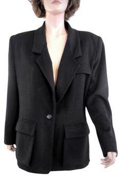 996fcb361b5aa Anne Klein Single Button Designer Black Blazer Black Singles