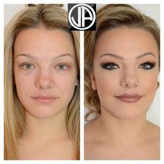 Makeover ....Bridal Contouring Makeup Individual Eyelashes Nude Lips