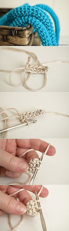 Как связать крючком круглый прочный шнур / How to Crochet Lace Cord