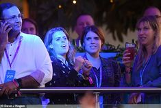 Princess Beatrice dances along to Celine Dion with sister Eugenie Princess Beatrice, Princess Eugenie, Celine Dion, Bst Hyde Park, Sisters Boyfriend, Beatrice Eugenie, Eugenie Of York, Caroline Flack, First Wedding Anniversary
