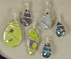 Orbit Wrap wire bezel designs by Janice Berkebile - from Bezel Alternatives: 4 Ways to Set Stones (and Shells, Beads, and More) in Wire with Janice Berkebile - Jewelry Making Daily