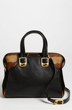 Fendi 'Chameleon - Small' Calf Hair & Leather Tote available at #Nordstrom