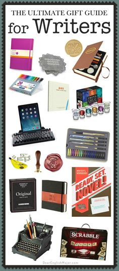 Writers; gifts; gift guide; writerly; fun; tools; resources