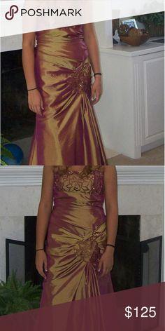 Dress Beautiful bronze long elegant dress Dresses Prom