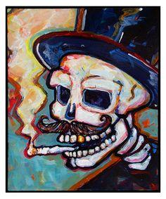 """Mr. Muerto"" Acrylic on panel - 10""x12"" William Wiggins"