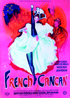 "Affiche film ""French Cancan"" / Poster of the movie ""French Cancan"" - 1955 #moulinrouge #poster #affiche #moulinrougecinema #Jeanrenoir"