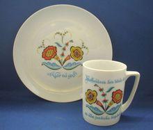 Berggren Swedish Modern Porcelain Mug Plate Scandinavian Bright Flowers