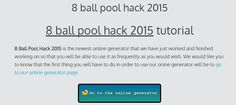 8 ball pool hack 2015 | online cheats tutorial