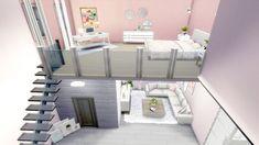 The Sims 4 - Girly Loft | Speed Build | Loft Building