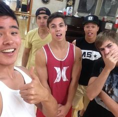 I think Davids my new favorite member. David Scarzone~Dana Vaughns~Cole Pendry~Will Jay~Gabe Martin IM5