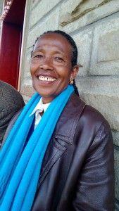 Zewditu Muturo on yksi uuden West Gibe Synodin naistyön johtajista. Kuva: Esko Siljanen