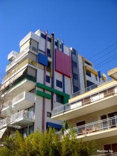 Mondrian building in Athens, Greece