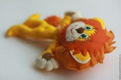 Купить Игрушка из фетра Львенок Ррр-мяу - львенок, игрушка ручной работы, подарок ребенку