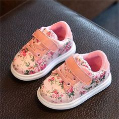 Floral Sneakers for Baby Girls
