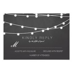 Simple String of Lights Wedding RSVP | Wedding