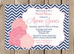 Bridal Shower Printable Invitation  Pink and by VividLaneDesigns, $14.00