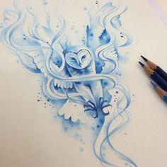 "✨""Expecto Patronum"" ✨ #tattoo #watercolortattoo #colorfulltattoo #hp #hptattoo #harrypottertattoo #expectopatronum #watercolor #carandachepencils #dehtattoo @drawing2me @drawings @tattooplacebr Hp Tattoo, Body Art Tattoos, Small Tattoos, Cat Tattoos, Ankle Tattoos, Arrow Tattoos, Tiny Tattoo, Friend Tattoos, Tattoo Flash"
