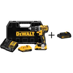 DEWALT 20-Volt Max Lithium-Ion 1/2 in. Cordless Drill Driver with Bonus 1.5Ahr Battery Pack