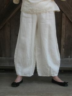 linen pant in ivory ready to ship by linenclothing on Etsy, $110.00