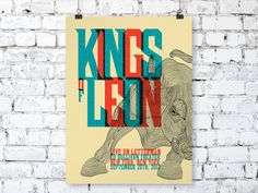 kings of leon tour poster - Google Search