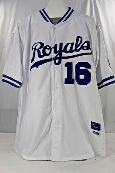 Kansas City Royals B. Jackson  16 White Jersey Horlohawk 52 1980 Stitched  Felt 74654c963