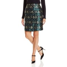 Anne Klein Women's Foldover Jacquard Skirt ($41) ❤ liked on Polyvore featuring skirts, anne klein, jacquard skirt, foldover skirt, anne klein skirts and folded skirt
