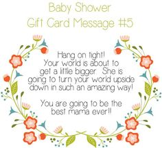 Top 10 baby shower gift card message ideas baby shower ideas and a fun selection of sweet free printables for your little girls nursery or bedroom m4hsunfo