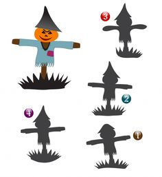 Observational Match – Scarecrow #observation #match #printable #free #game…