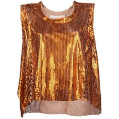 DROME Metallic vest (€1.275) ❤ liked on Polyvore featuring tops, tank tops and drome