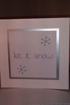 Sewn Christmas card