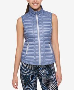 Tommy Hilfiger Sport Puffer Vest, Created for Macy's - Purple XS