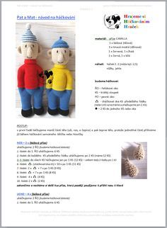 Pat a Mat | Návody na háčkované hračky