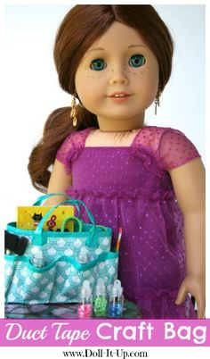 Make a Duct Tape Craft Bag for Dolls - Doll It Up