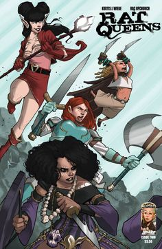 Sass & Sorcery! The Rat Queens, Putting the Fun (& the F.U.) Back Into Comics! The Rat Queens #2 by Kurtis J. Wiebe and Roc Upchurch. All rights reserved.