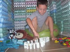 How many egg cartons does it take to make a fort? Recycle to learn math.