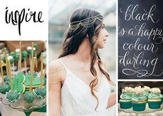 Moodboard für die Hochzeit in grün gold | Friedatheres.com