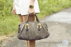 Grey Prada Bag