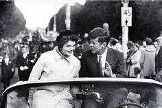 Sen. John F. Kennedy campaigns with his wife in Boston, 1958, by Carl Mydans, Photograph, National Museum of American History, Catalog number: 2005.0228.149.