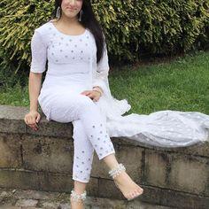 Image may contain: 1 person Latest Punjabi Suits Design, Designer Punjabi Suits, Indian Designer Wear, Kurti Neck Designs, Kurti Designs Party Wear, Salwar Designs, Pakistani Dress Design, Pakistani Outfits, Salwar Suits Party Wear