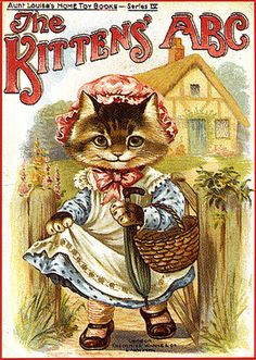 """The Kittens' ABC"". Aunt Louisa's Home Toy Books - Series IV. Published by Frederick Warne & Co., London and New York (u.d., c. 1895)"