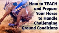 How to TEACH and Prepare Your Horse to Handle Challenging Ground Conditions