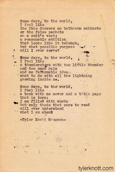 Typewriter Series #2 by Tyler Knott Gregson