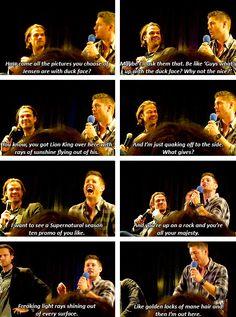 [gifset] #NJCon14 #Jensen #Jared