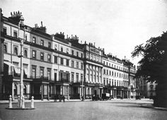 An early 20th-century view of Belgrave Square. Leo's parents' London home, Wraxhall House, is one of the townhouses that rings the square.