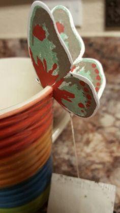 Tea bag holder using Watercolor Wings  (Stampin' Up)