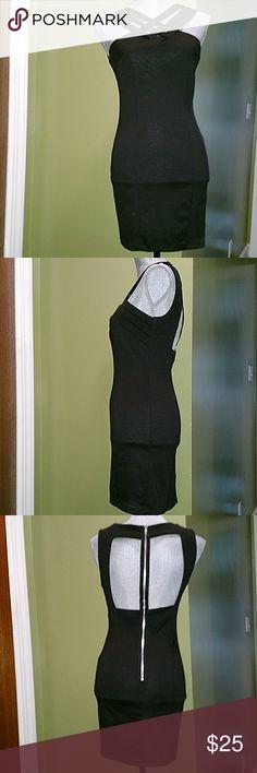 Love Little Black Dress Perfect little black dress. LBD  Silver zipper, back cut design. Love Dresses Mini