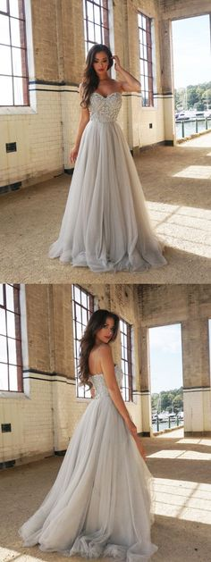 Beading Bridal Gown,Sweetheart A Line Wedding Dress with Spaghetti,Handmade Prom