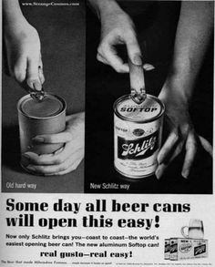 Funny Old Ads  Holy cow I forgot you needed a can opener.