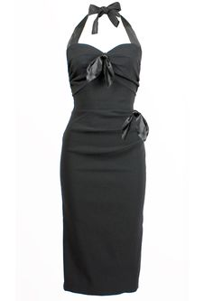 f2a2dce0e86 Coquette Wiggle Dress - black 1950s Outfits